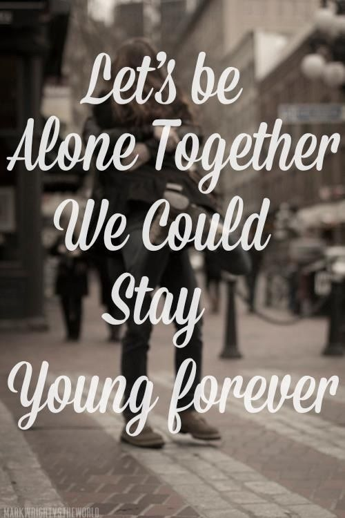 Soulmate Quotes Alone Together Fall Out Boy Quotes Time