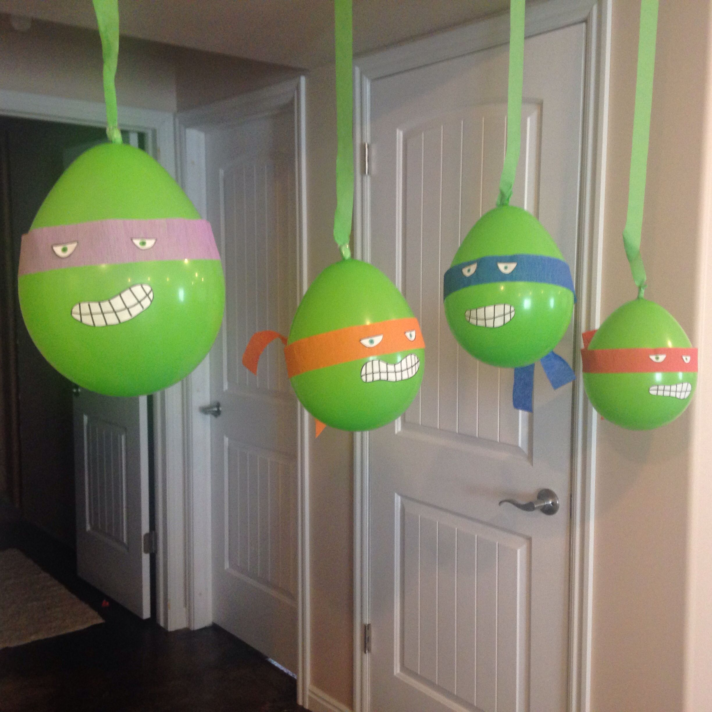Teenage mutant ninja turtle birthday party ideas pink lover for Tmnt decorations