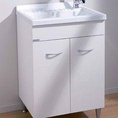 Mobile lavanderia in legno idrofugo a due ante, completo di ...