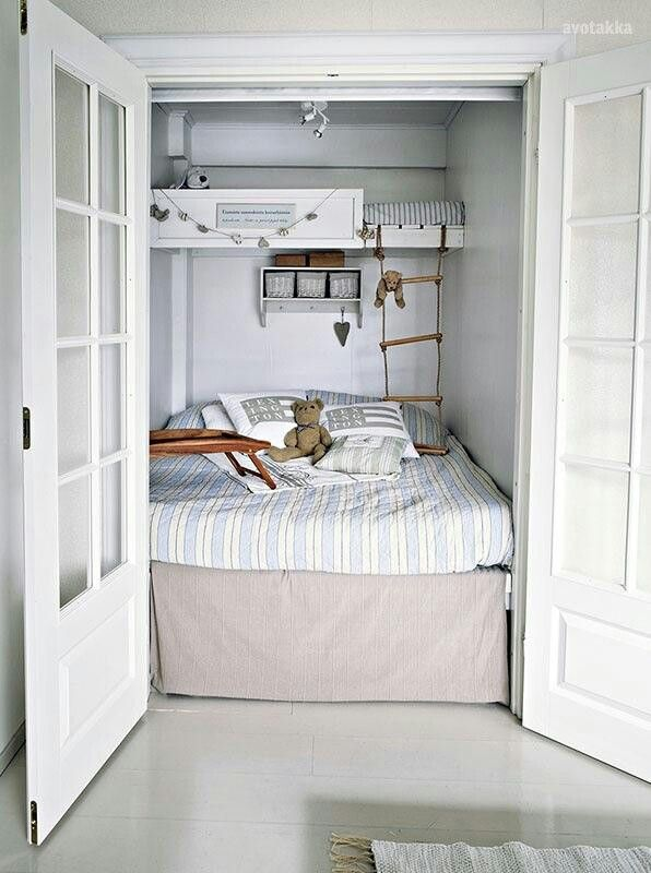 Pin By Stephanie Velosa On Shabby Cute House Design Bunk Beds Unique Convert Closet To Bedroom