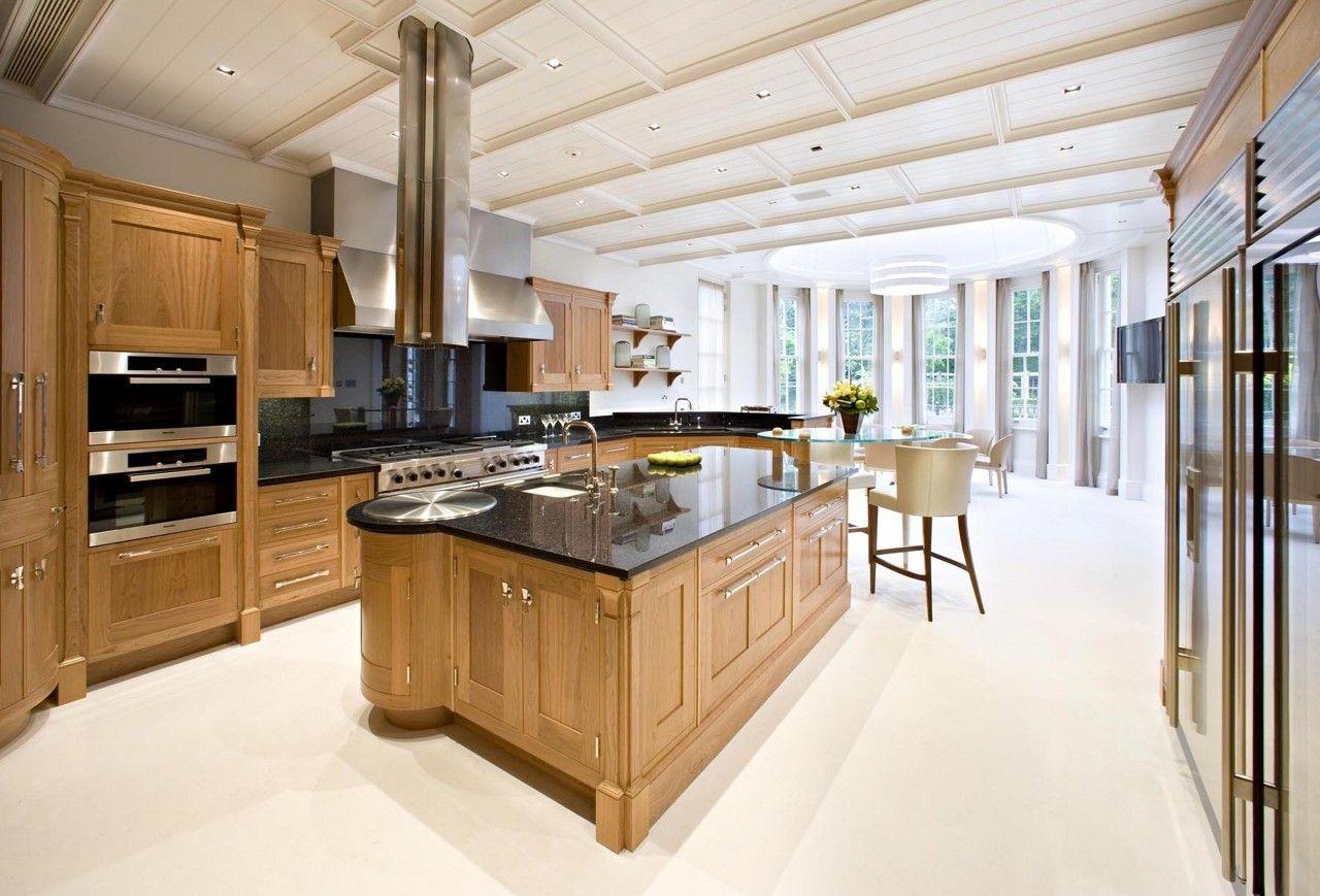 This kitchen belongs to Israeli diamond billionaire Lev