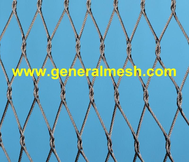 X Tend Tau Mesh Spesifikasjoner Forskjellige Kabeldiameter 1 2 Til 4 0 Mm Forskjellige Maskestorrelser 25 X 43 Mm Opp Til 2 Mesh Steel Stainless Steel Cable