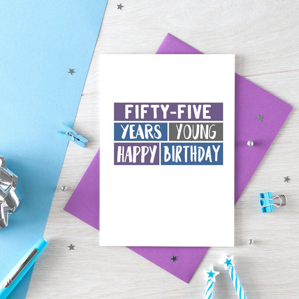 Happy Fifty Fifth Birthday Card