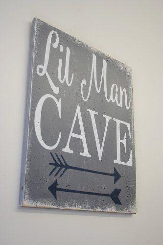 Man Cave Nursery : Little man cave wood sign nursery decor amazon signs