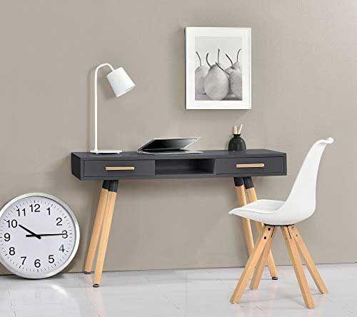 160x80 cm Color Nogal Mesa de Oficina Euro 3000 Patas en T de Metal.