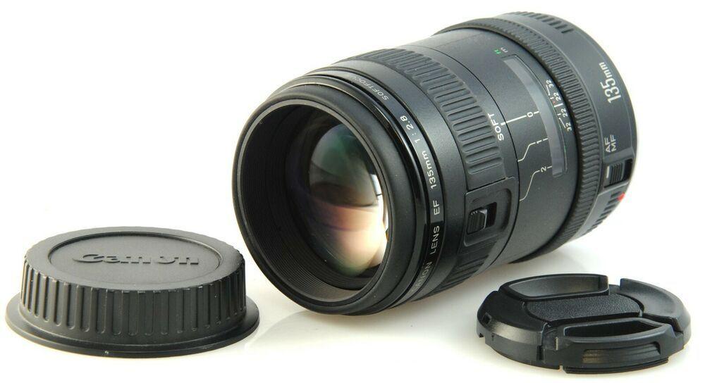 Canon Ef 135mm F2 8 Softfocus Portrait Lens For Eos Film Digital Cameras Portrait Lens Digital Camera Digital