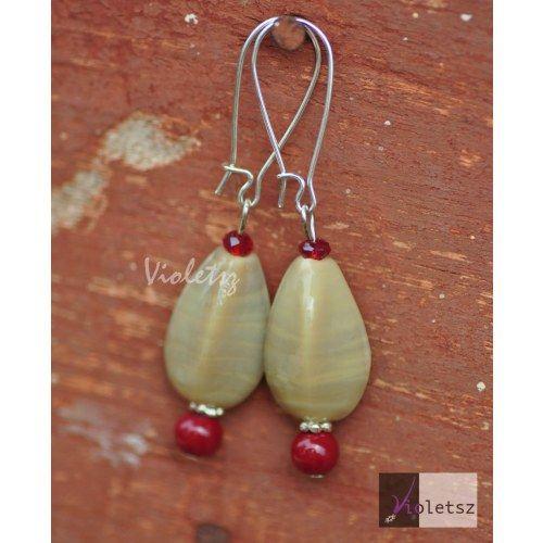 Online Shopping for ceramic fancy drops - Earrings by Violetsz