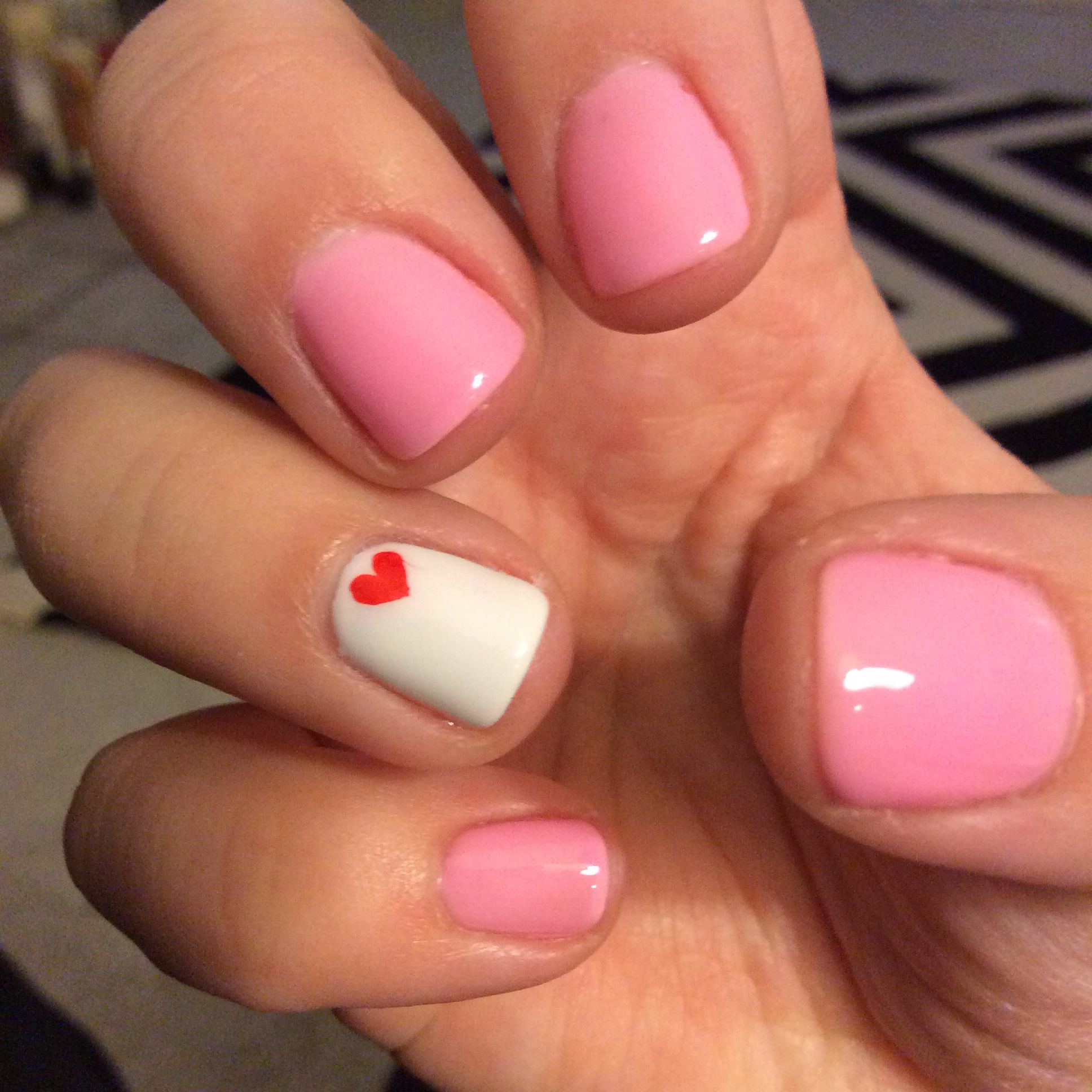 My Simple Valentines Day Gel Nails