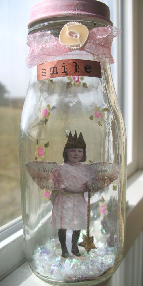 Smile alTeReD Fairy in Jar Roses and Sweetness
