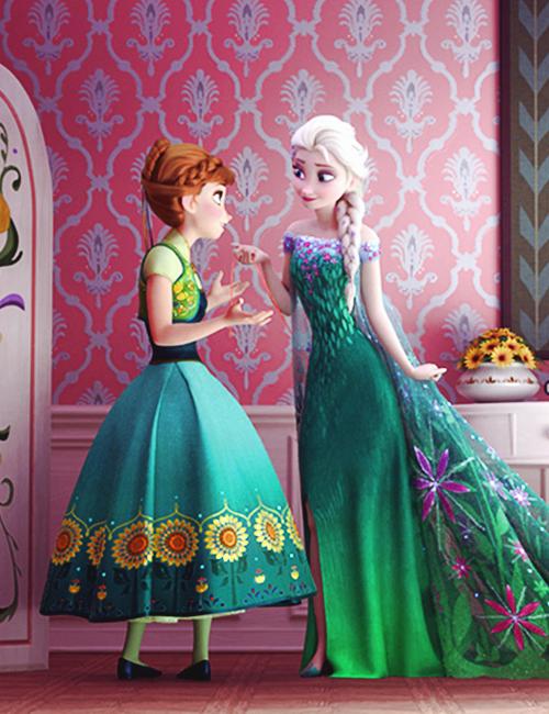 "Elsa: ""Just follow the string."" Anna: ""Wait, what?"""