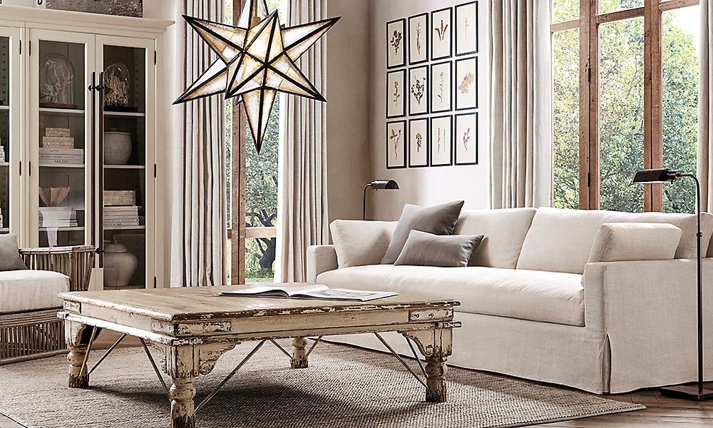 fascinating restoration hardware living room home deco | 20 Amazing Living Rooms Inspired by Restoration Hardware ...