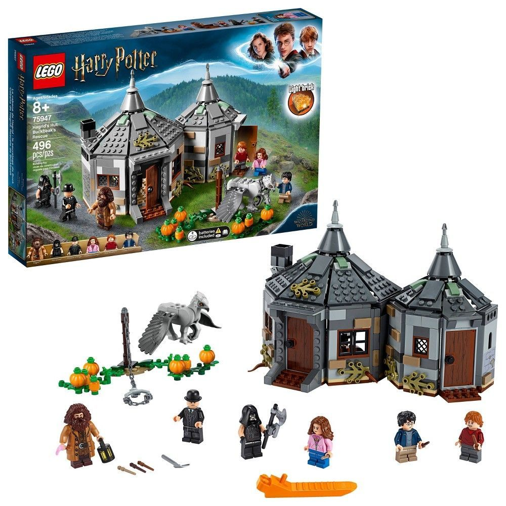 Lego Harry Potter Hagrid S Hut Buckbeak S Rescue 75947 Toy Hut Harry Potter Gift 496pc Cooles Spielzeug Lego Spielzeug Und Lego Harry Potter