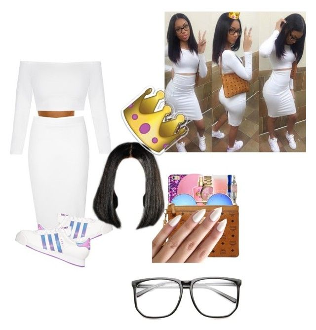 """""""did that"""" by jade0106 ❤ liked on Polyvore featuring Glamorous and adidas"""