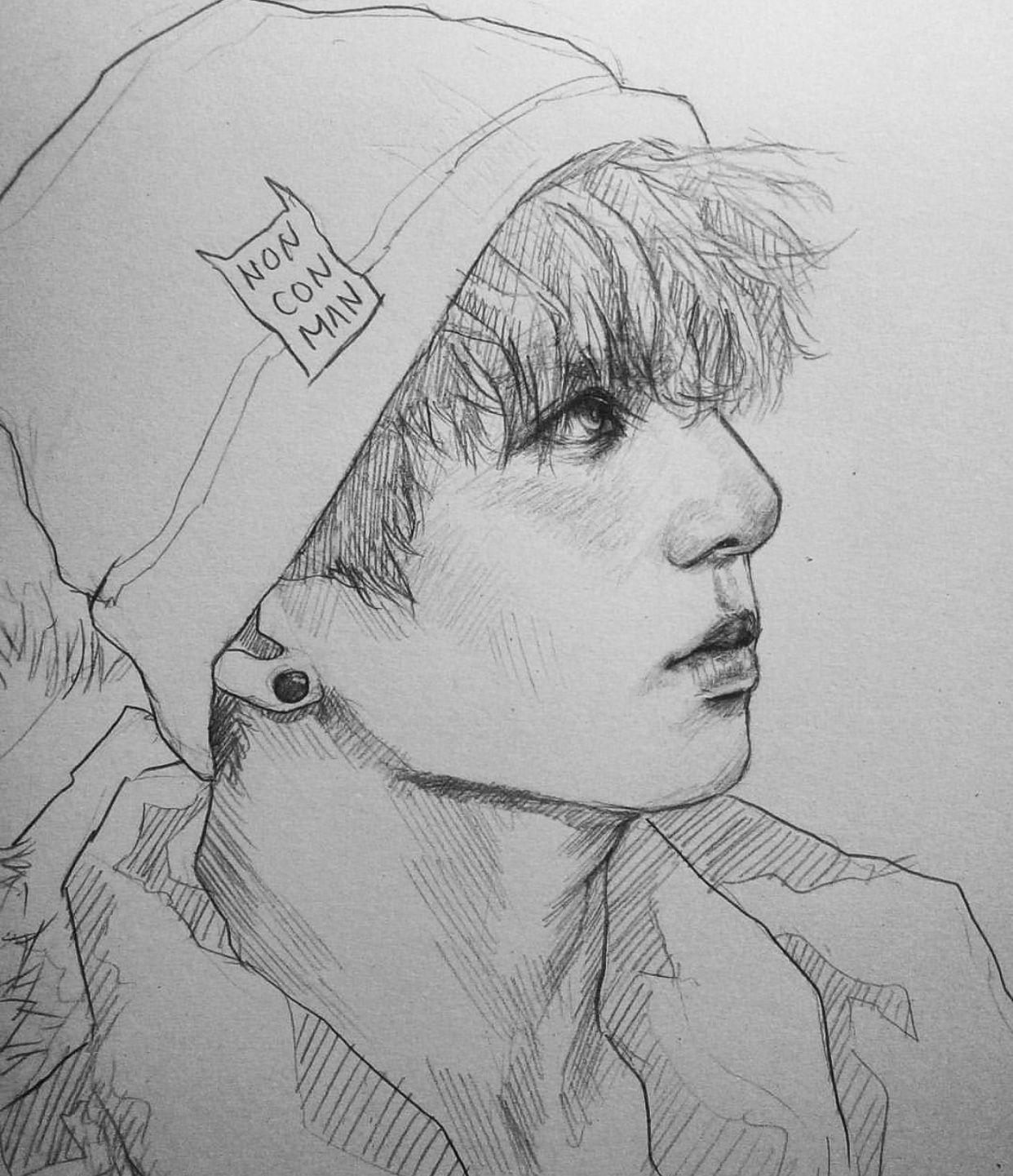Art by Nonco instagram nonconman Bts drawings, Kpop
