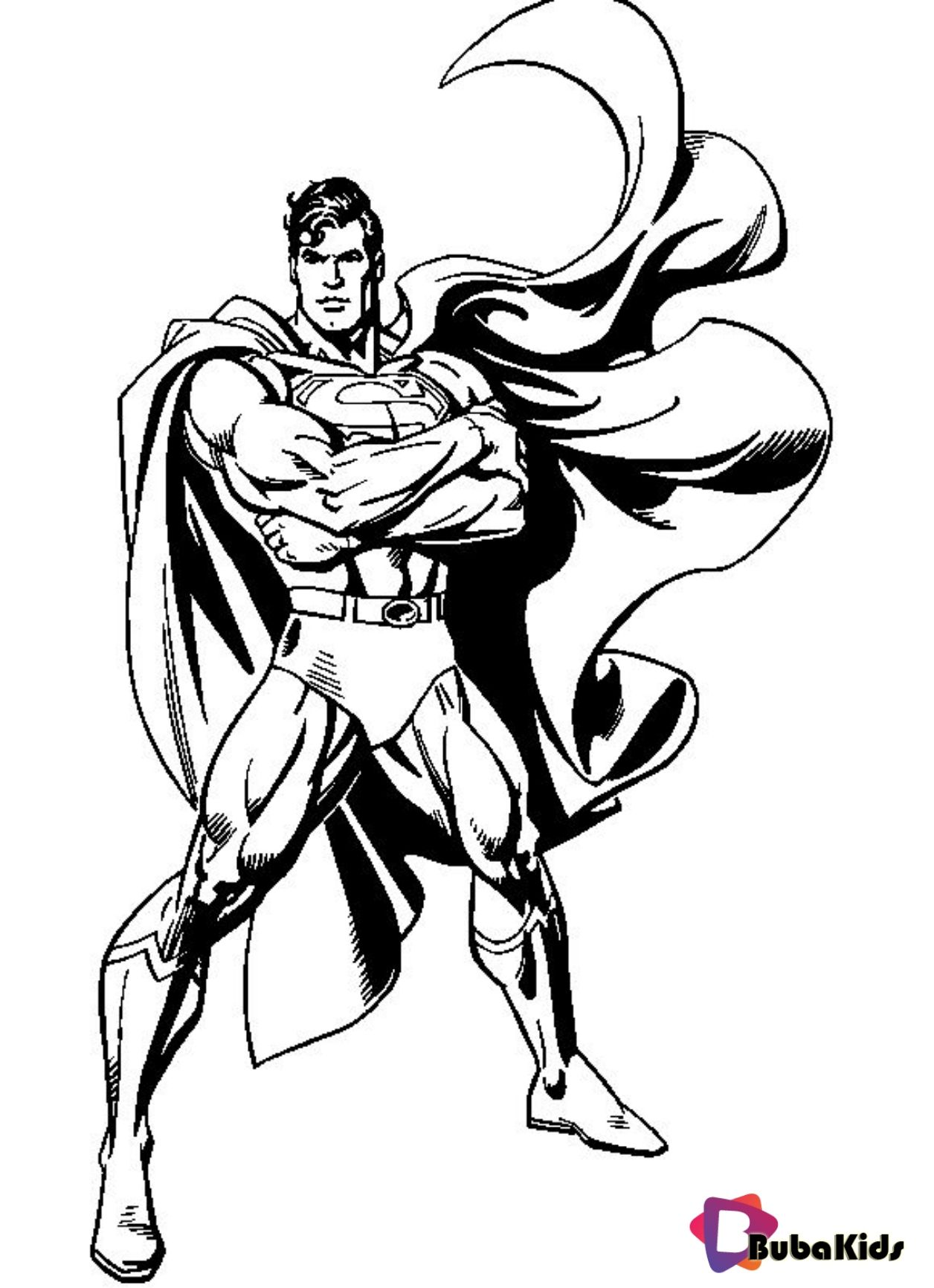 Superman Coloring Page Cartoon Characters Coloring Pages On Bubakids Com Bubakids Com Superman Coloring Pages Superhero Coloring Pages Cartoon Coloring Pages