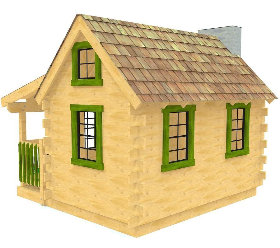 Adirondack Log Cabin Playhouse Plan In 2019 аленка Pinterest
