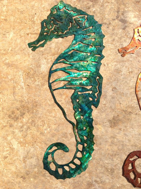 Custom Metal Seahorse Wall Art - Green | Custom metal, Seahorses and ...