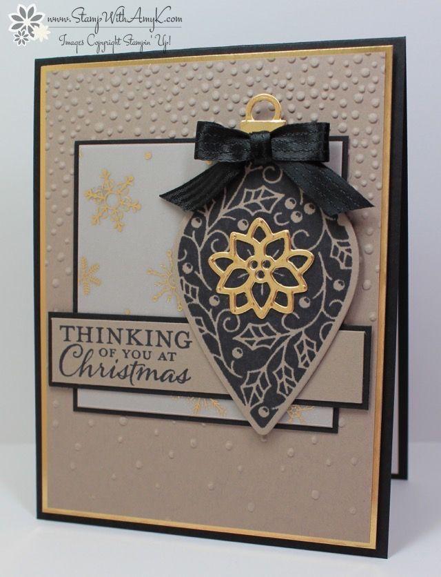 Stampin' Up! Embellished Ornamentsstamp set and Delicate OrnamentsThinlits Dies