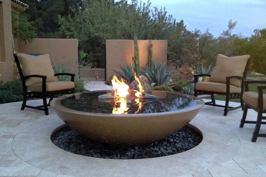 fire pit bowl and screen propane insert diy metal what you should know concrete