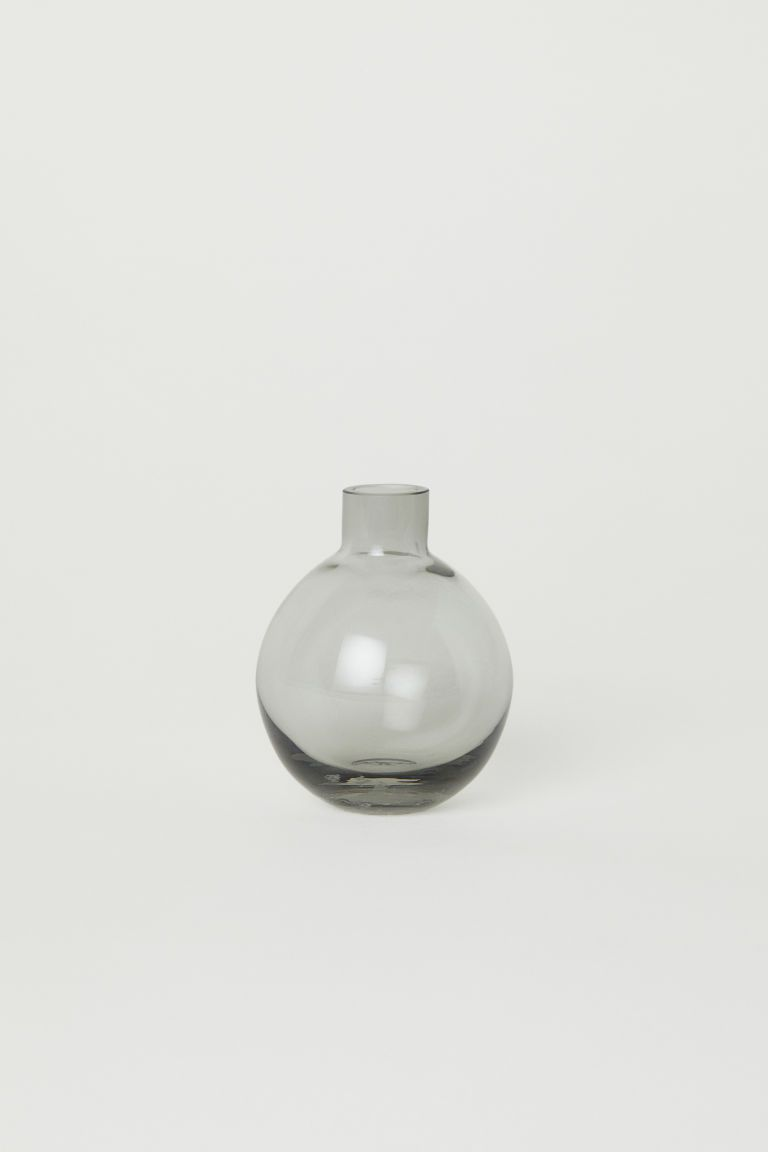 Mini Vase En Verre Transparent Gris Home All H M Fr Mini Vase Small Glass Vases Large Glass Vase