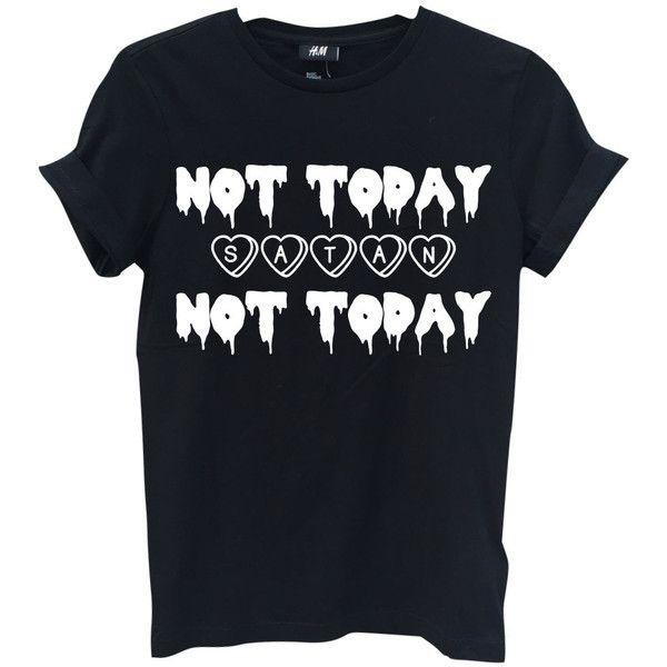 Not Today Satan Tees /— Death Metal Short-Sleeve Unisex T-Shirt