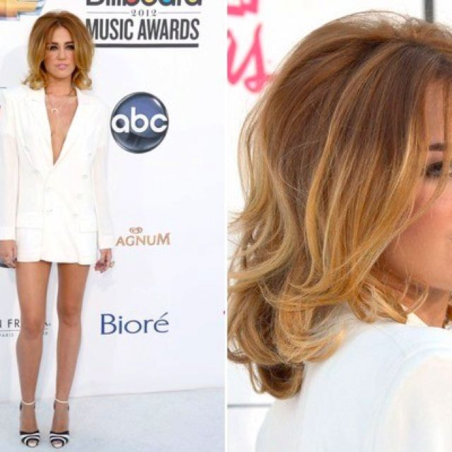 Miley Cyrus Long Bob Hair