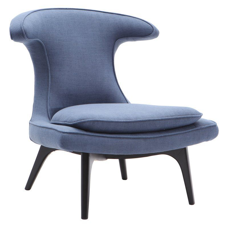 Best Armen Living Aria Contemporary Accent Wingback Chair Blue 400 x 300