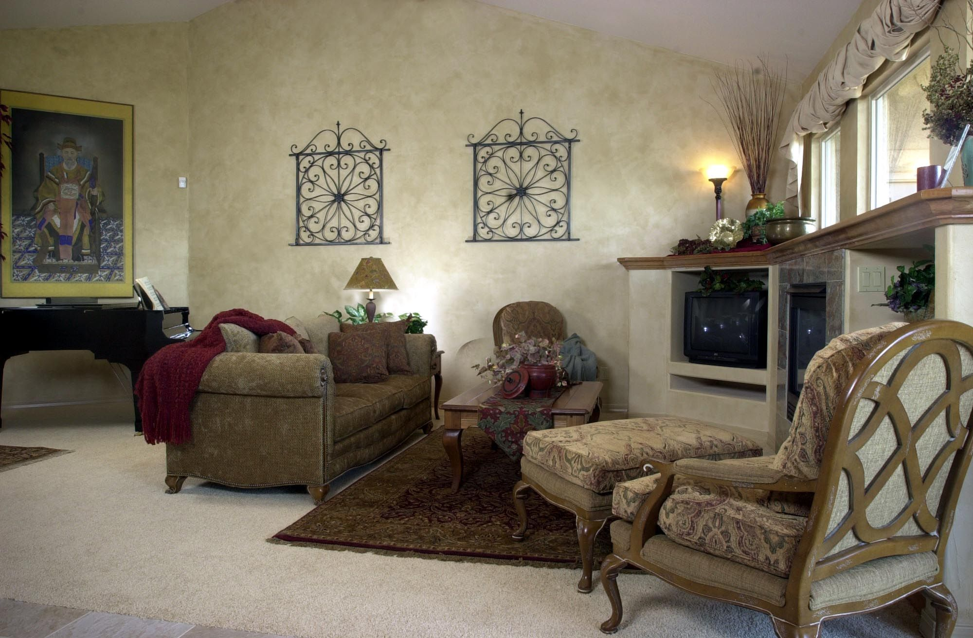 This Room Features Drexel Heritage Furniture, Caramel Glazed Walls, An  Antique