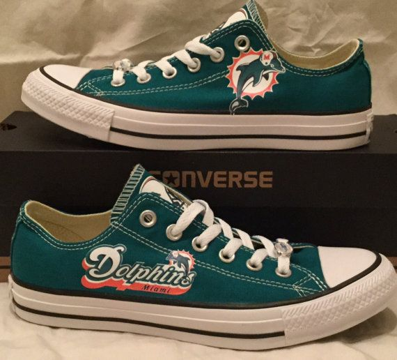 aae623392316 Miami Dolphins Converse Chuck Taylor Sneakers NFL by PimpMyKickz ...