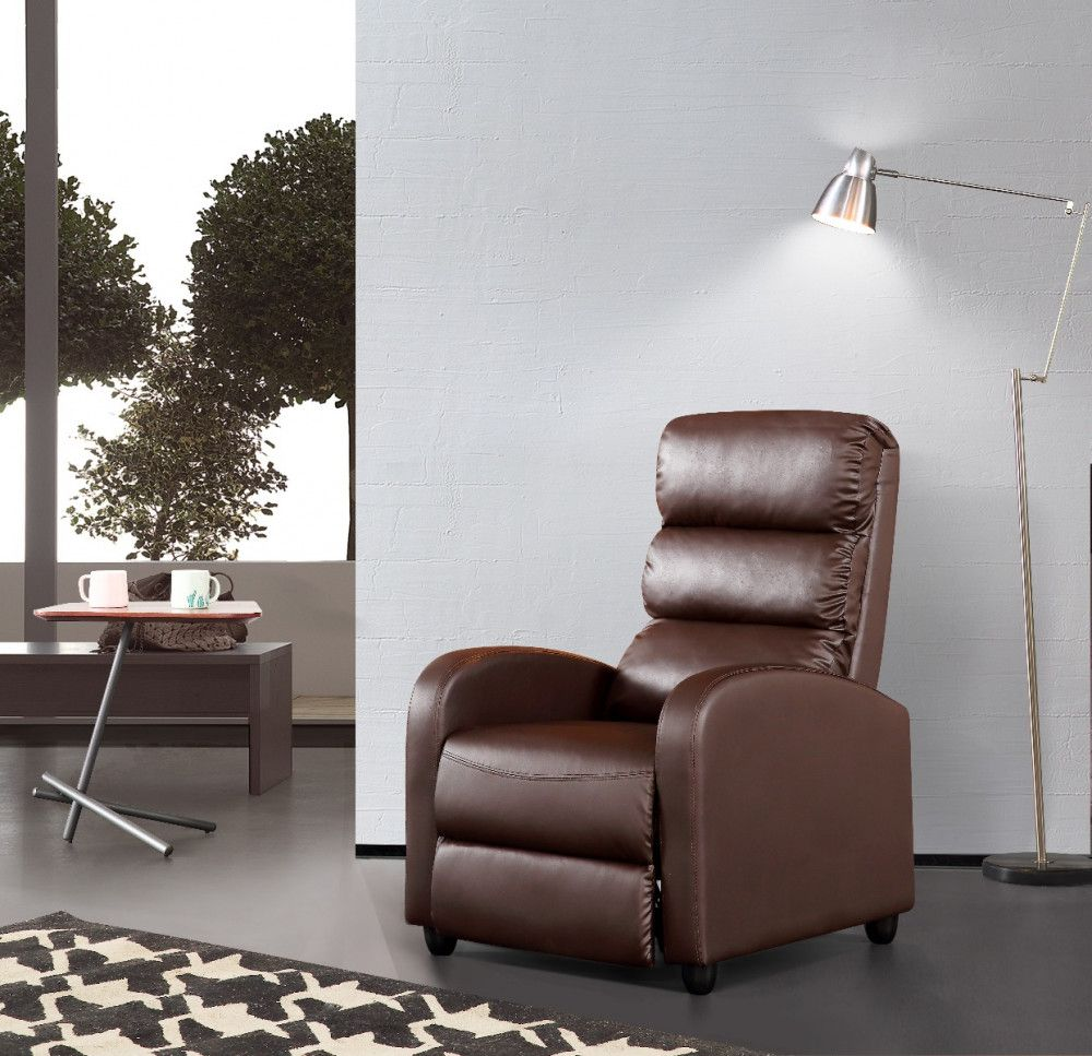 Luxury Leather Recliner Chair Armchair Brown In 2020 Leather