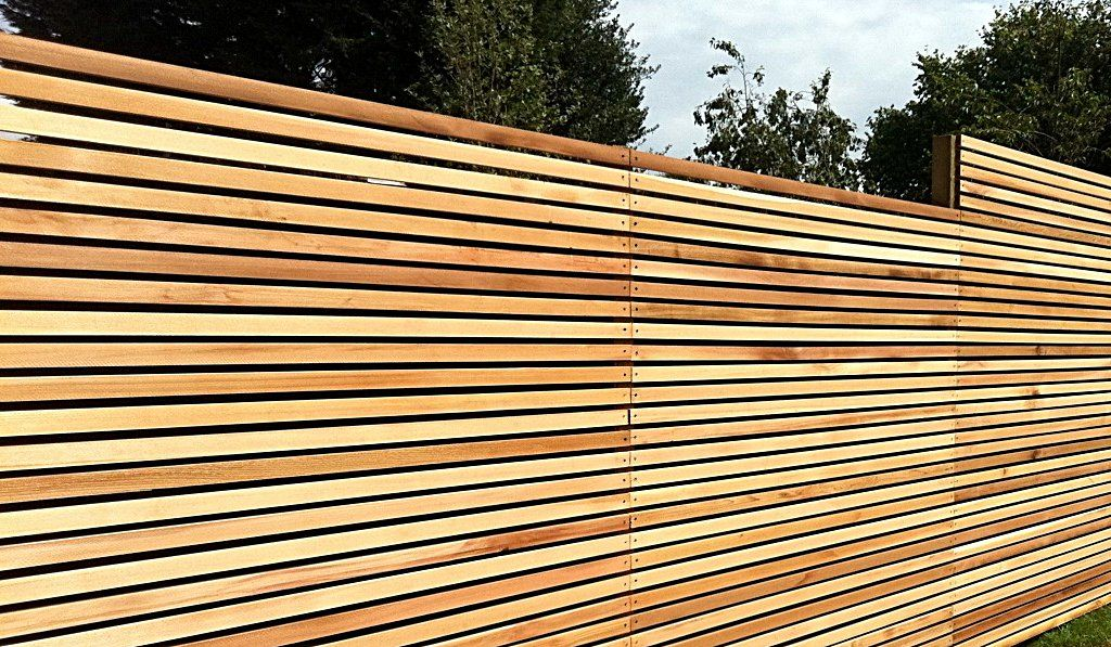 different woven and horizontal fence panels peiranos fences