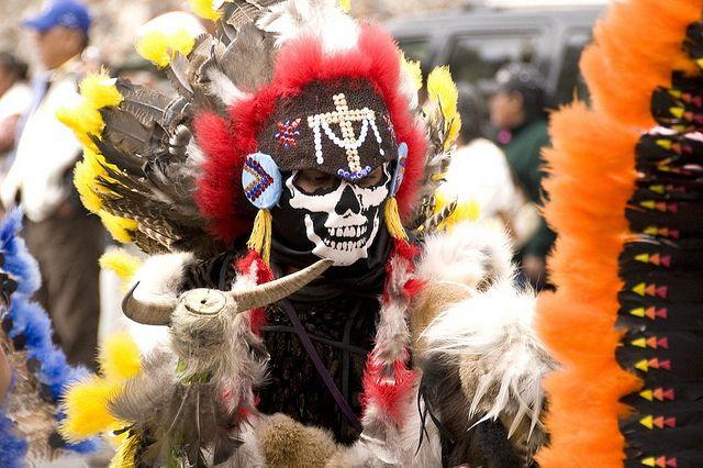 Las Mascaras de la Alborada 2011 #2  Danzante en el desfile de la Alborada, San Miguel de Allende, Guanajuato, Mexico