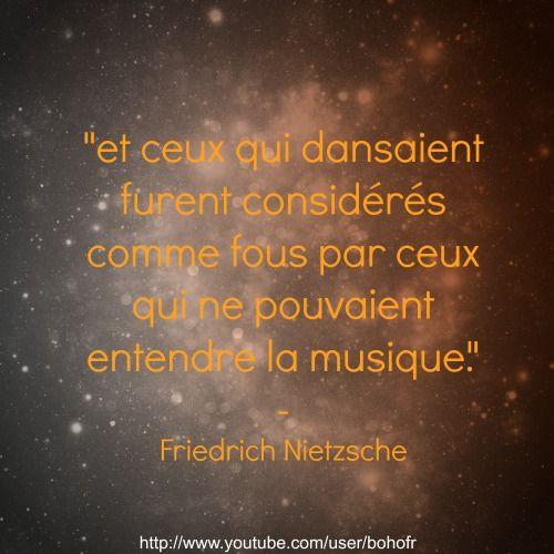 Citation Nietzsche Musique : Nietzsche danse musique fous citations citation image