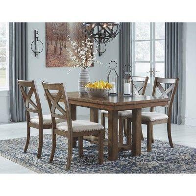 Moriville Rectangular Dining Room Extension Table Grayish Brown