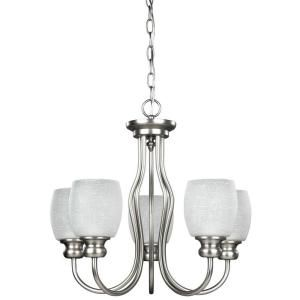Canarm Envirolite 5 Light Brushed Pewter Energy Star Chandelier With Etched Linen Glass Ichan917a05513bpt The Home Depot Star Chandelier Chandelier Glass