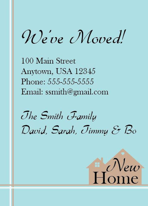 Moving Announcement New Home House (blue) Vintage by NestedExpressions, $20