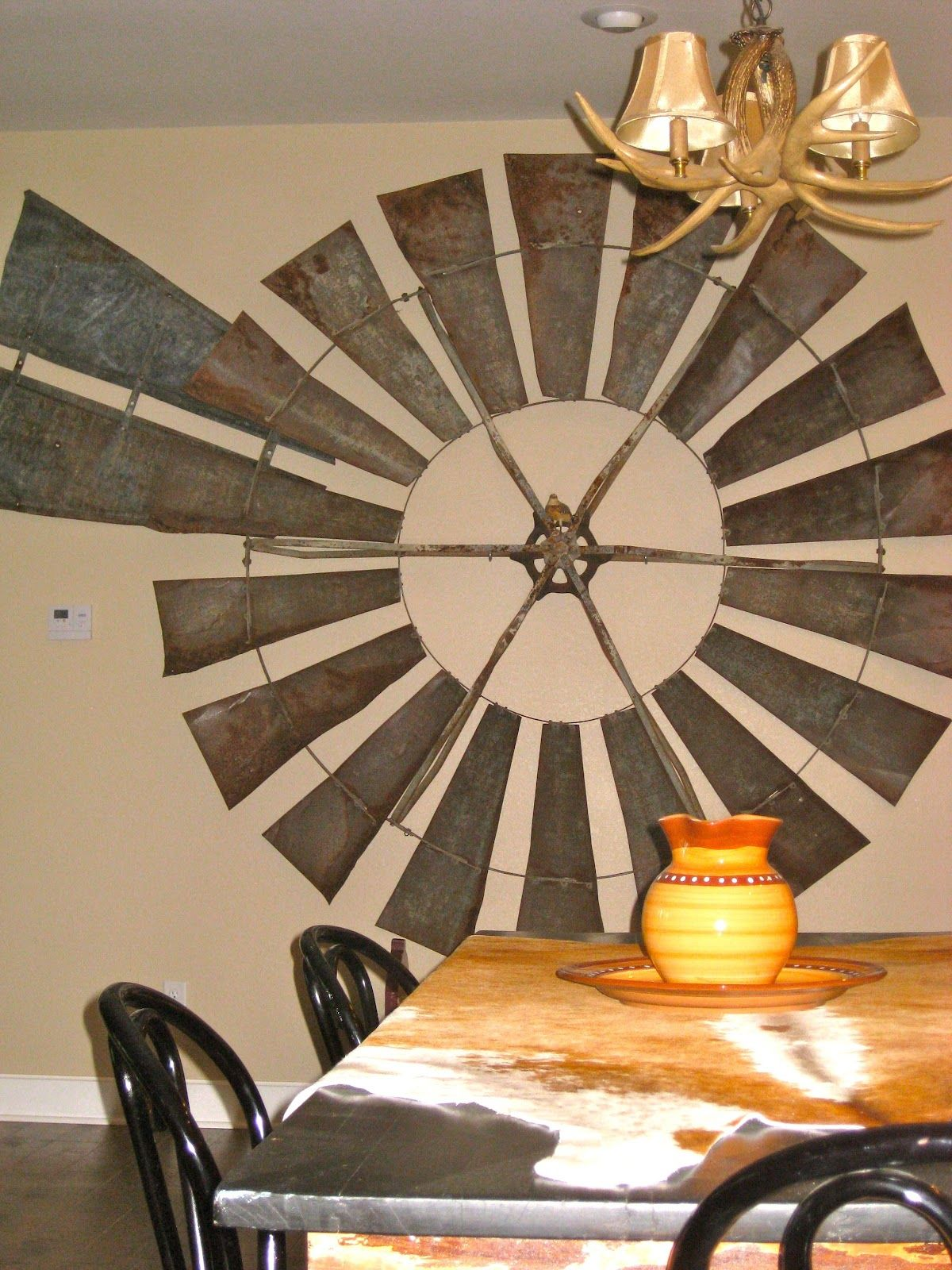 Windmill on the feature wall WINDMILLS Pinterest