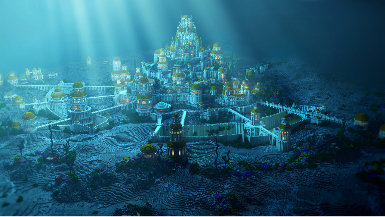 Atlantis Minecraft Underwater Lost City Of Atlantis Atlantis