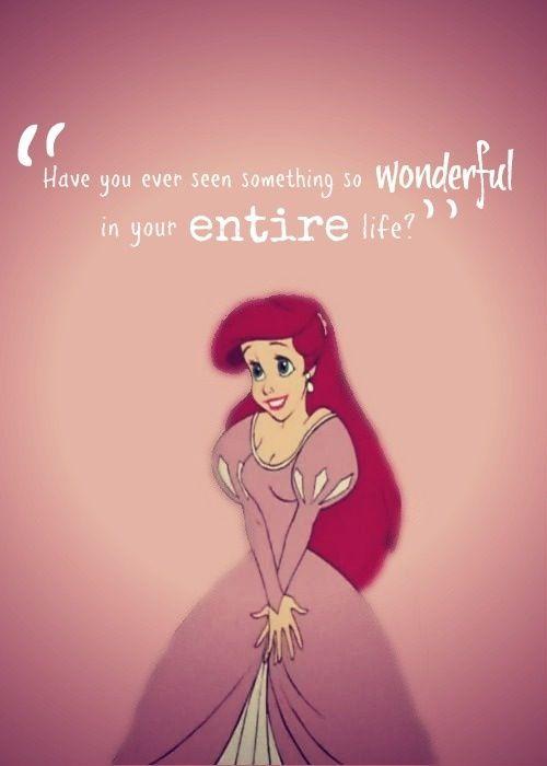 Little Mermaid movie quote Disney princess movies