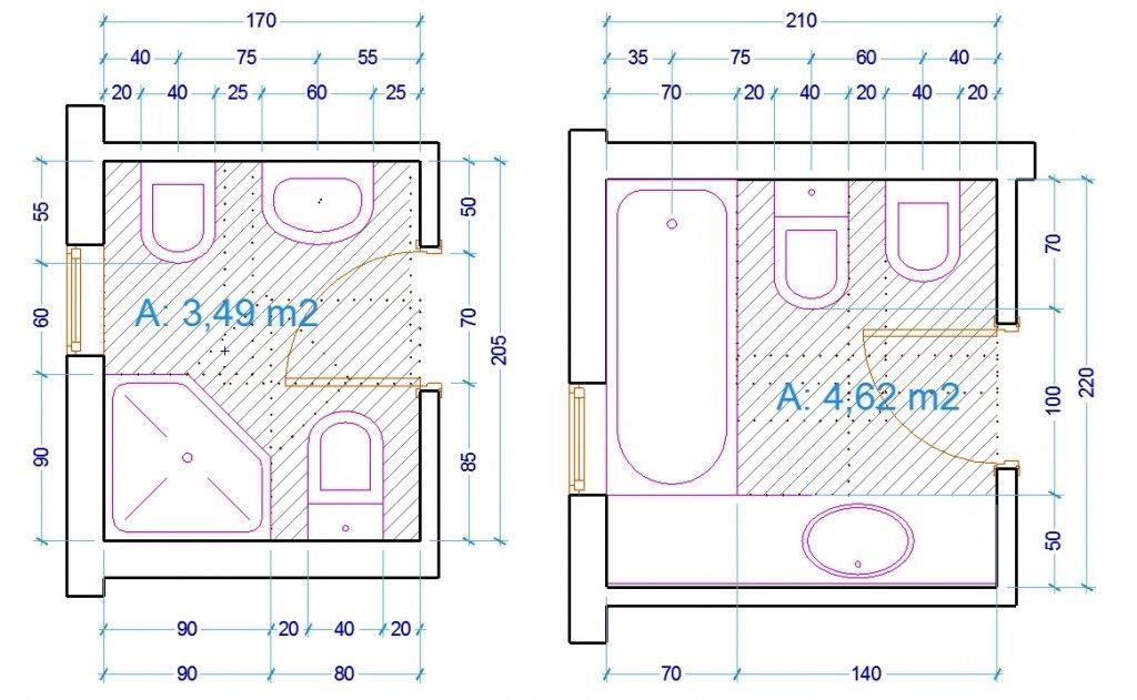 Le misure dell 39 uomo nell 39 abitazione il bagno bagno for Planimetrie 5 camere da letto