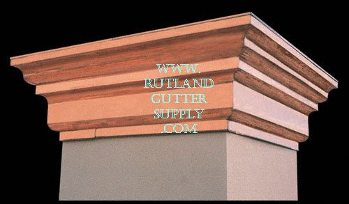 Copper Chimney Top With Elegant Stepped Sides Shown Here
