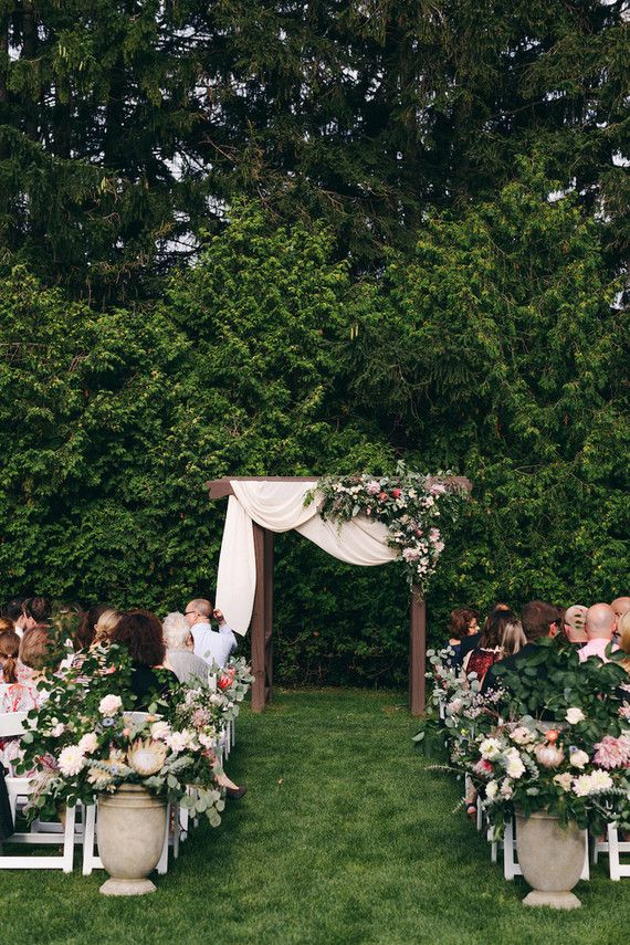 Floral garden wedding in Ontario | Wedding Ceremony Ideas ...