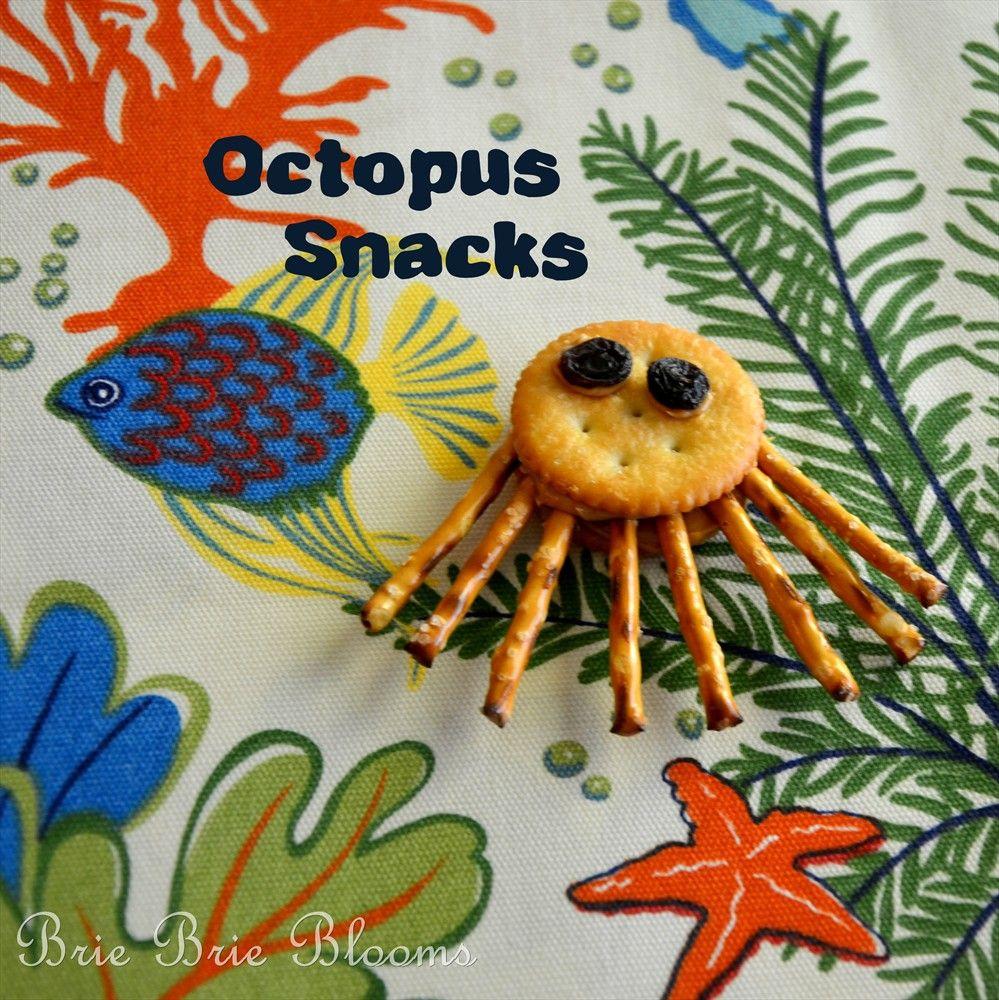 Octopus Snacks With Images Ocean Theme Snacks Ocean Snacks