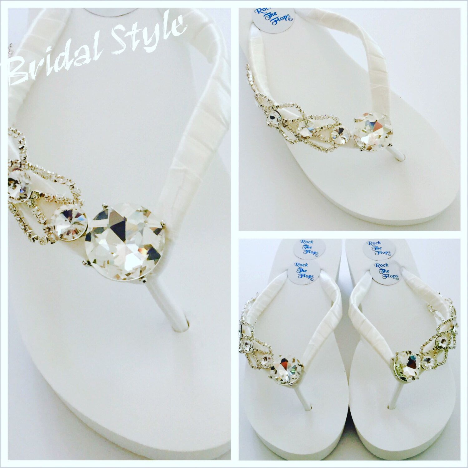 af20e5abff6f Items similar to Bridal Flip Flops.