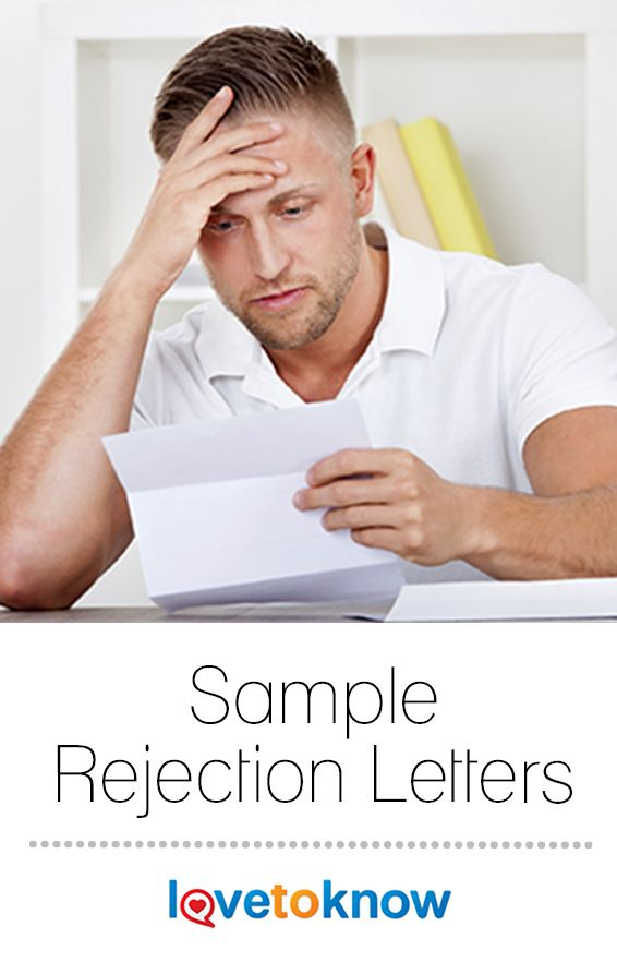 In the business world, sometimes the answer is \ - rejection letter sample