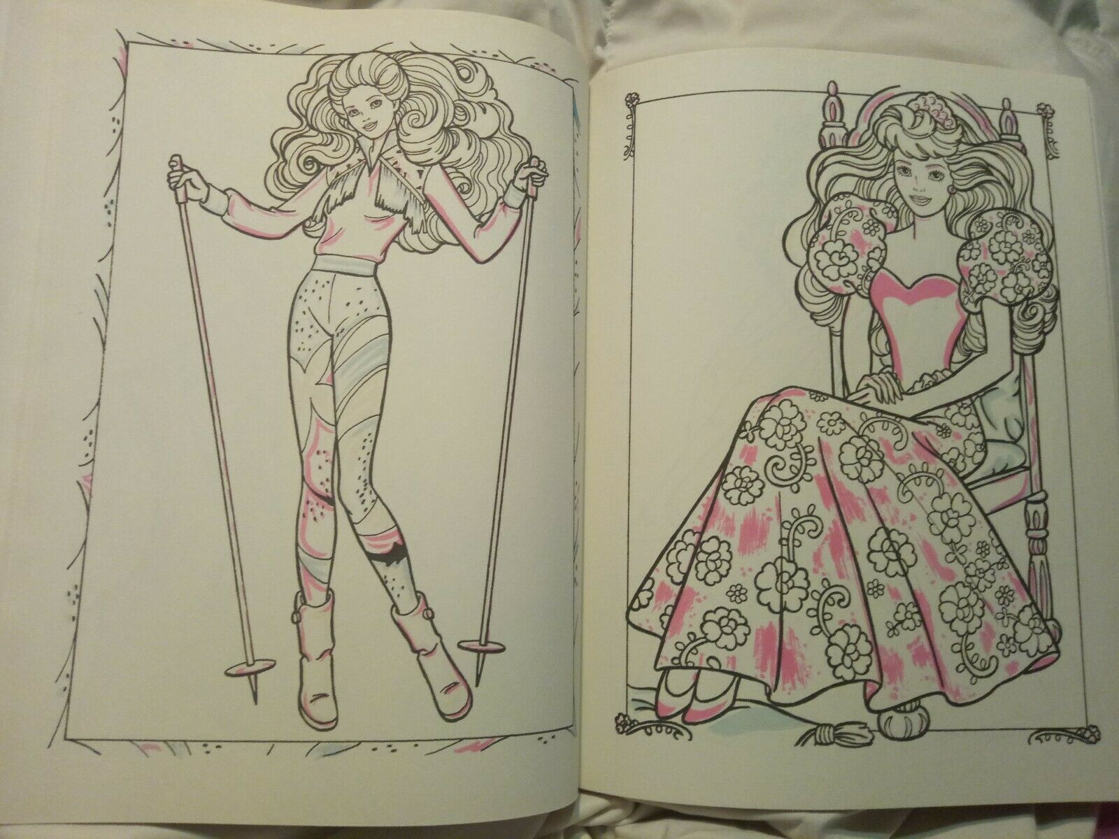 Vintage 1990 Barbie Giant Paint With Water Coloring Book By Golden New Unused 11 Barbie Coloring Pages Barbie Coloring Coloring Book Set
