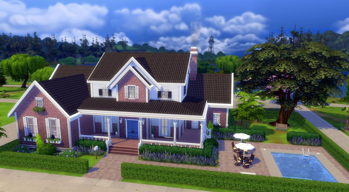 download family dream house sims online sims 4
