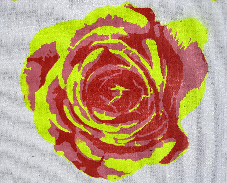 Three Layer Rose Stencil. $17.95, via Etsy.