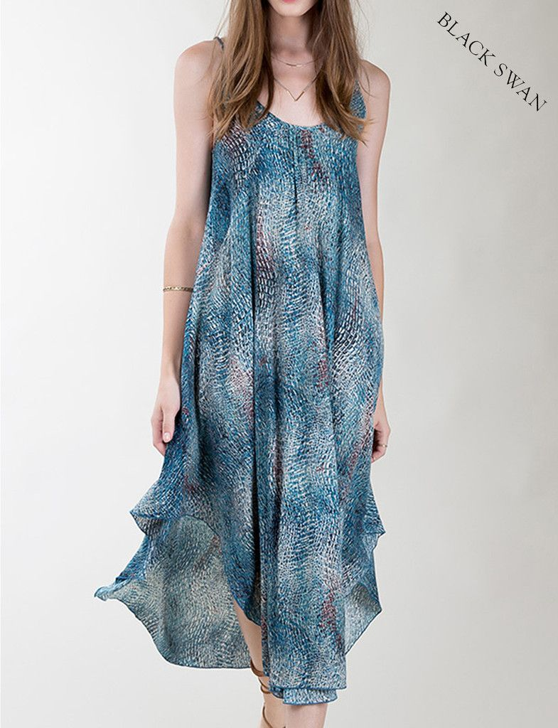 Black Swan Yves Womens Boho Maxi Dress