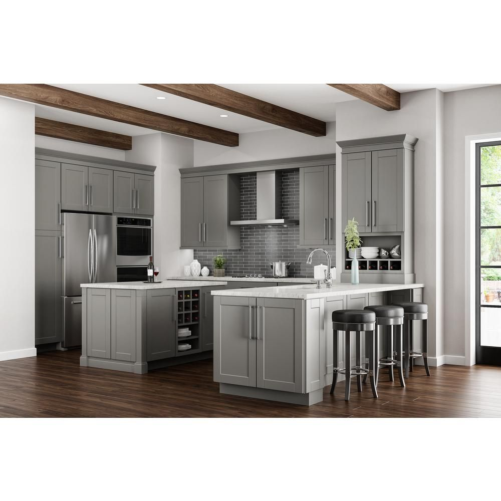 shaker assembled 30x18x12 in. wall flex kitchen cabinet with